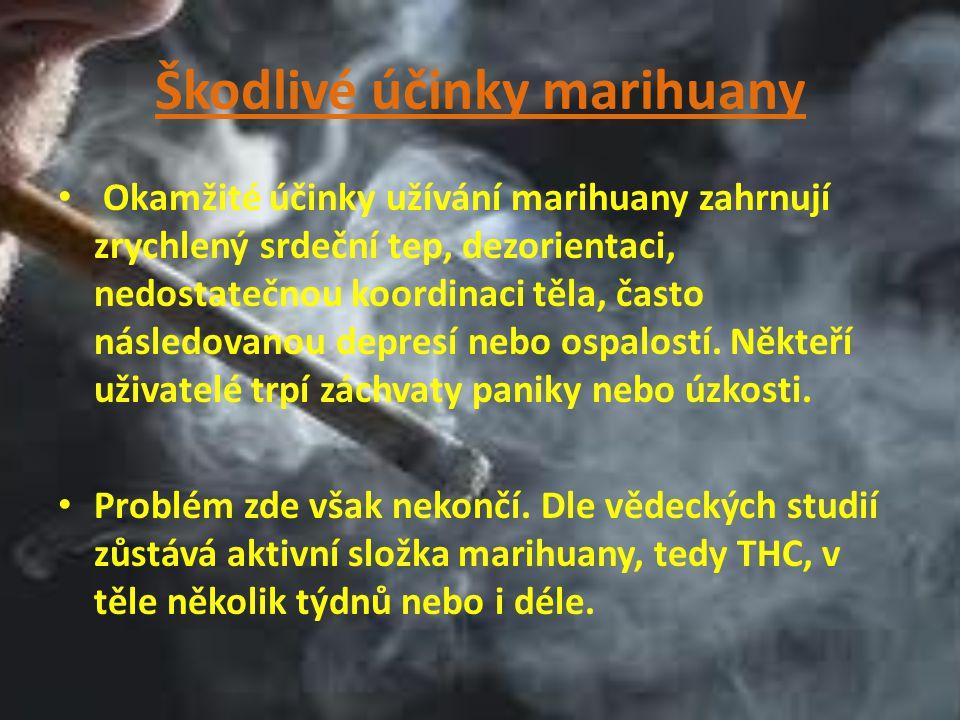 Škodlivé účinky marihuany