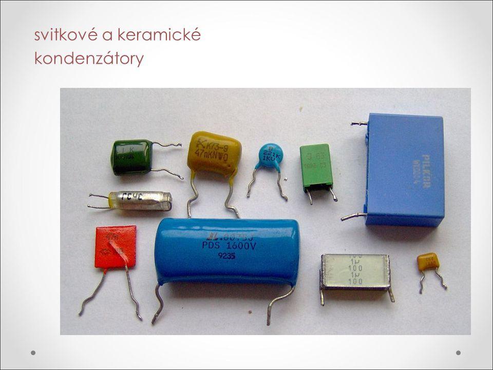 svitkové a keramické kondenzátory