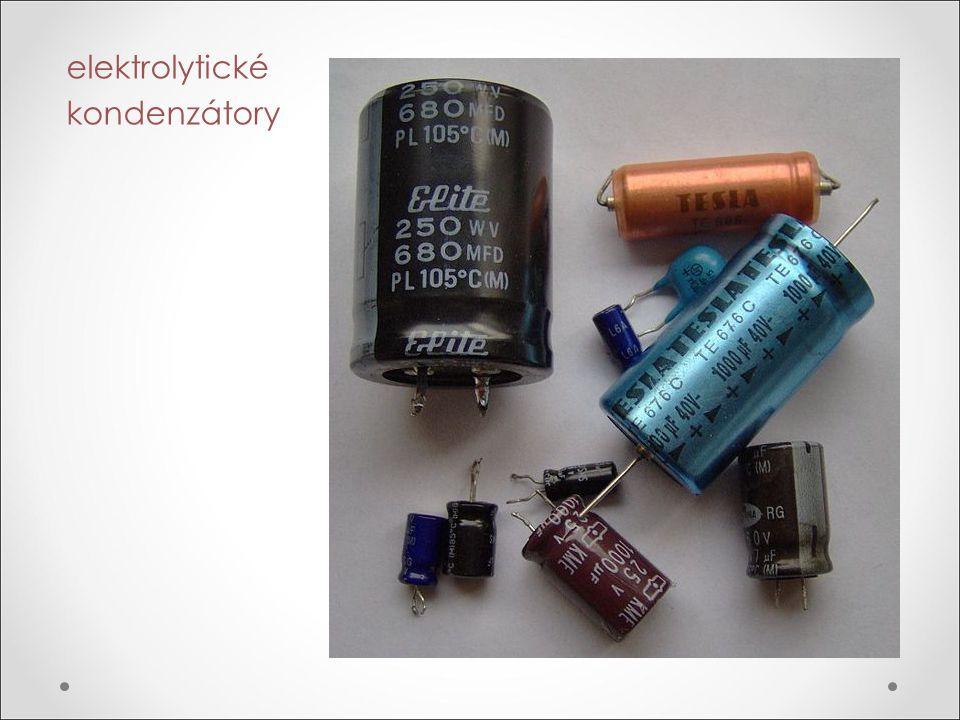 elektrolytické kondenzátory