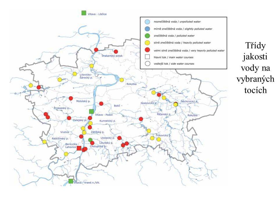 Třídy jakosti vody na vybraných tocích