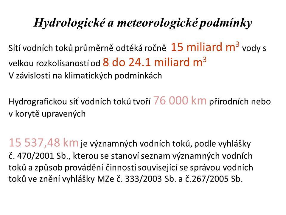 Hydrologické a meteorologické podmínky