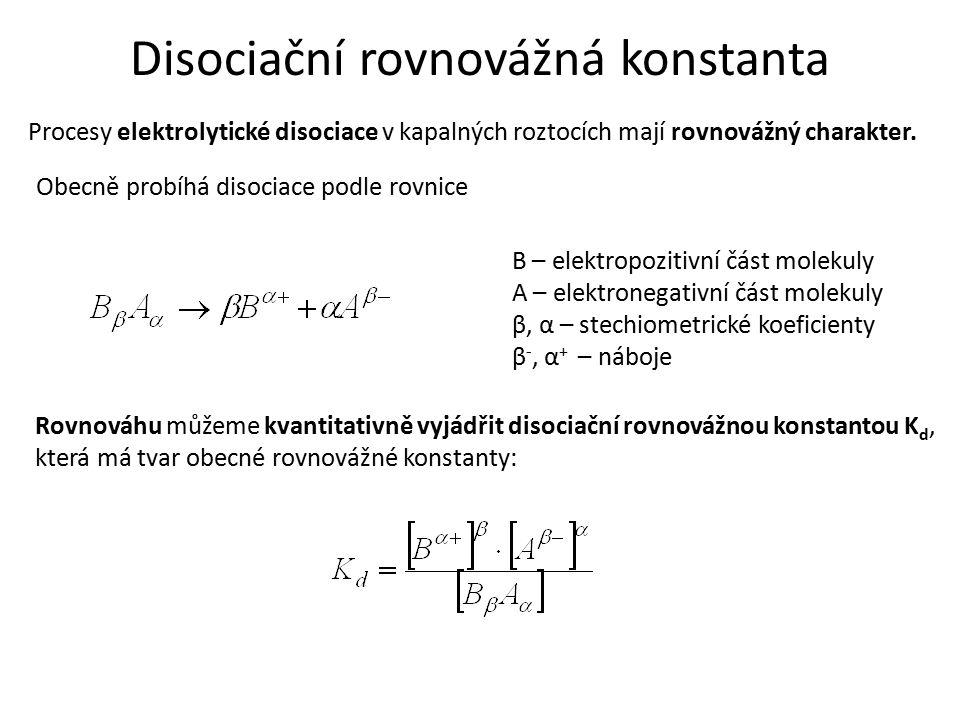 Disociační rovnovážná konstanta
