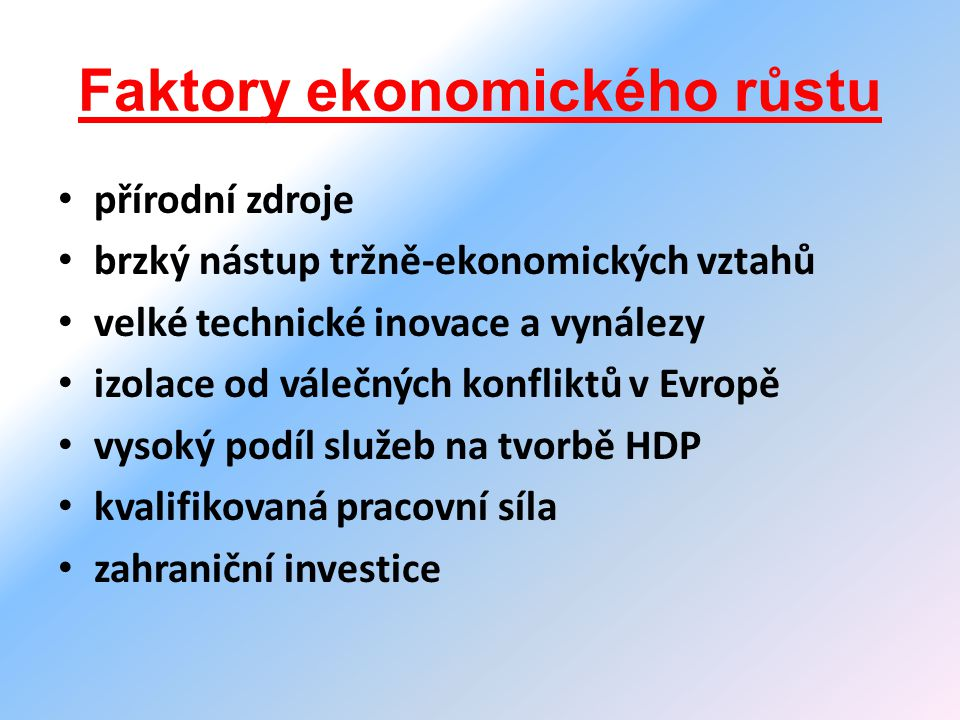 Faktory ekonomického růstu