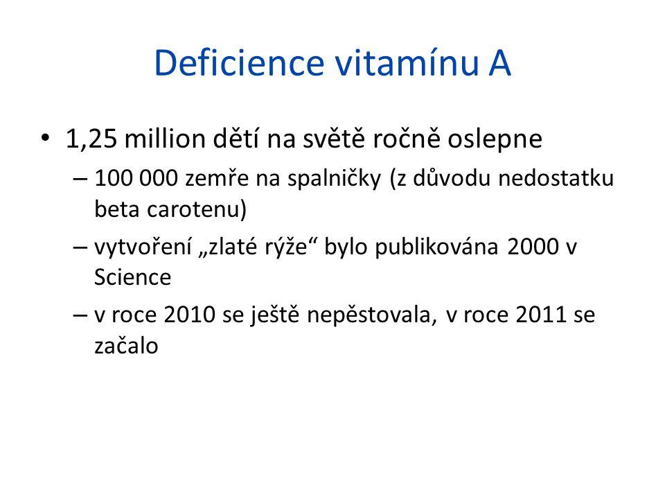 Deficience vitamínu A 1,25 million dětí na světě ročně oslepne