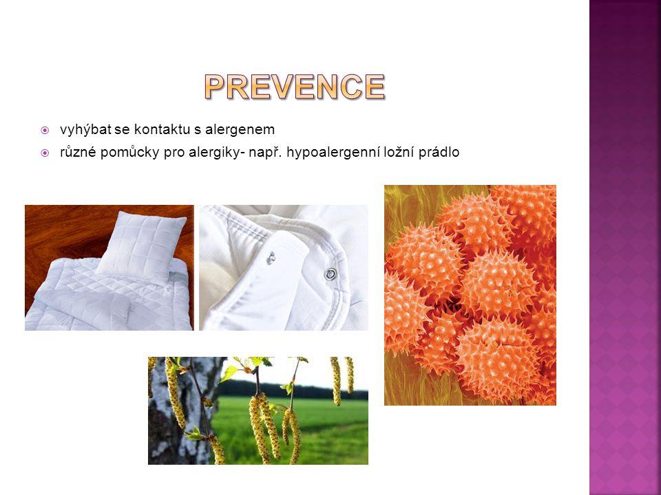 prevence vyhýbat se kontaktu s alergenem