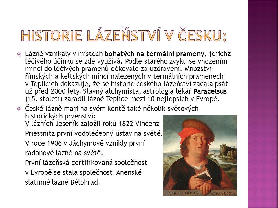 Historie lázeňství v česku: