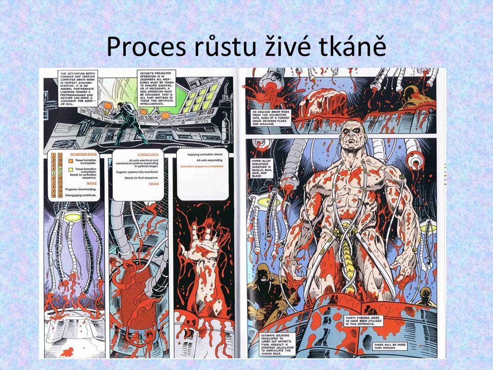 Proces růstu živé tkáně