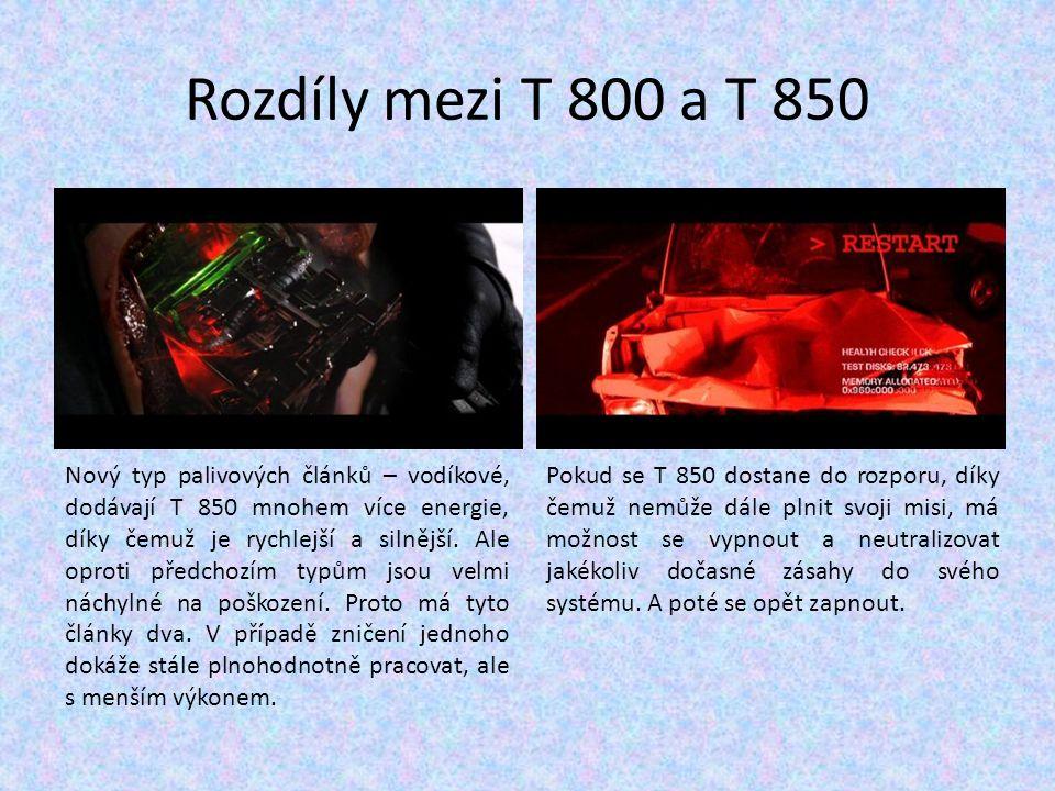 Rozdíly mezi T 800 a T 850