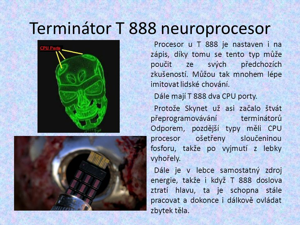 Terminátor T 888 neuroprocesor