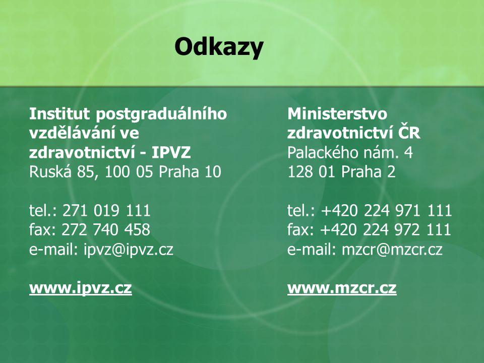 Odkazy Institut postgraduálního vzdělávání ve zdravotnictví - IPVZ