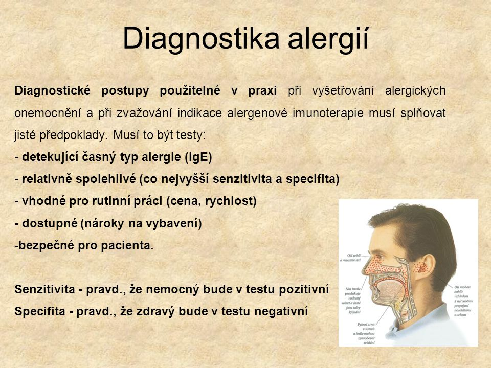 Diagnostika alergií