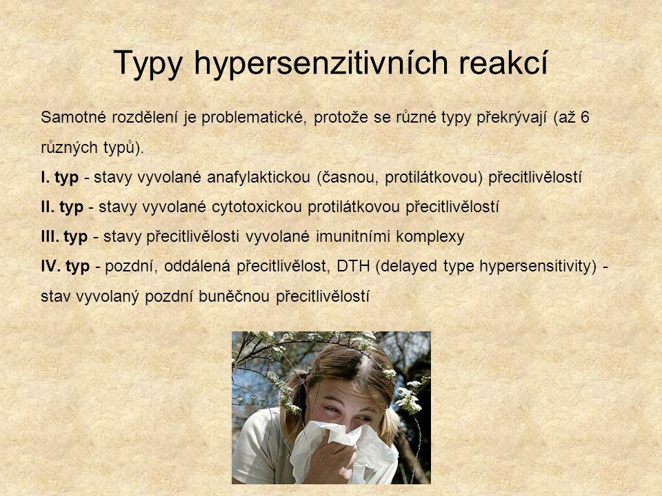 Typy hypersenzitivních reakcí