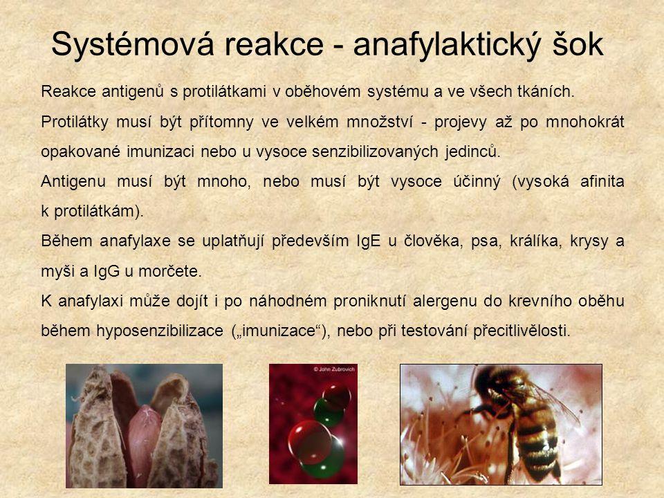 Systémová reakce - anafylaktický šok