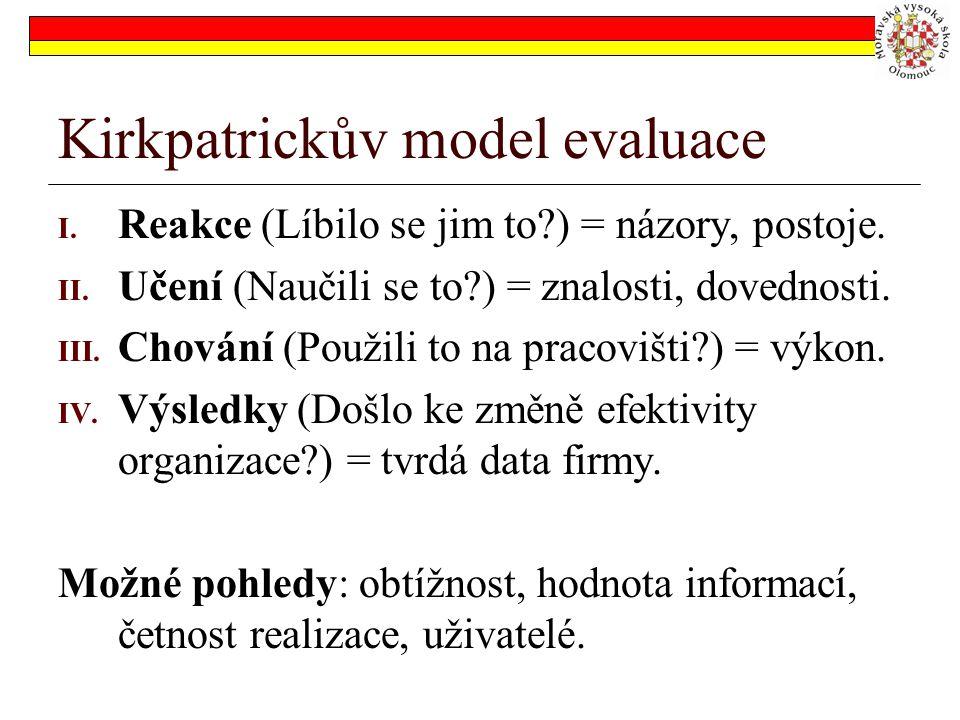 Kirkpatrickův model evaluace