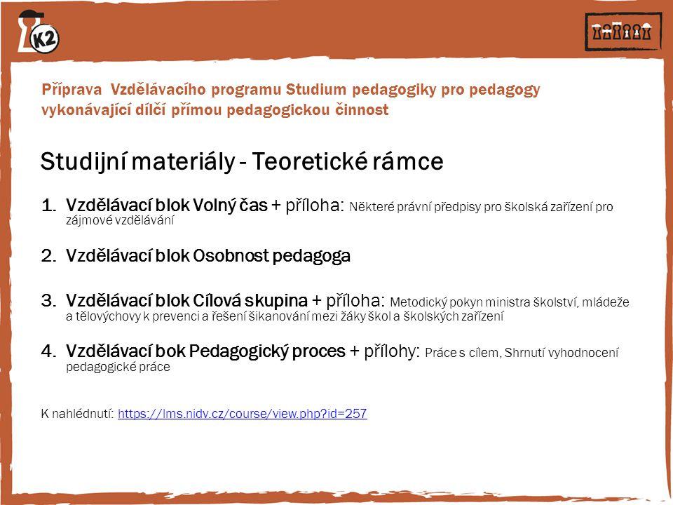 Studijní materiály - Teoretické rámce