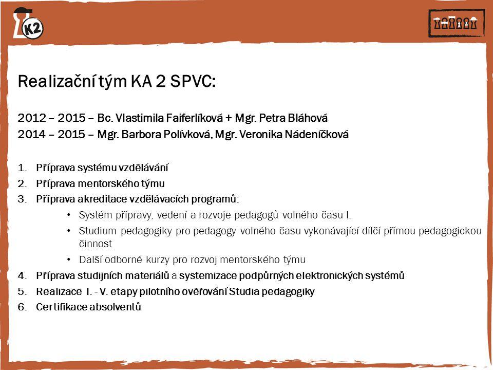 Realizační tým KA 2 SPVC: