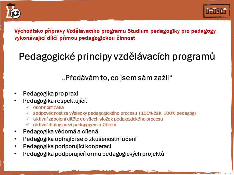 Pedagogické principy vzdělávacích programů