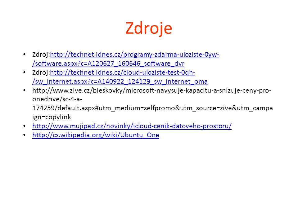 Zdroje Zdroj:http://technet.idnes.cz/programy-zdarma-uloziste-0yw-/software.aspx c=A120627_160646_software_dvr.