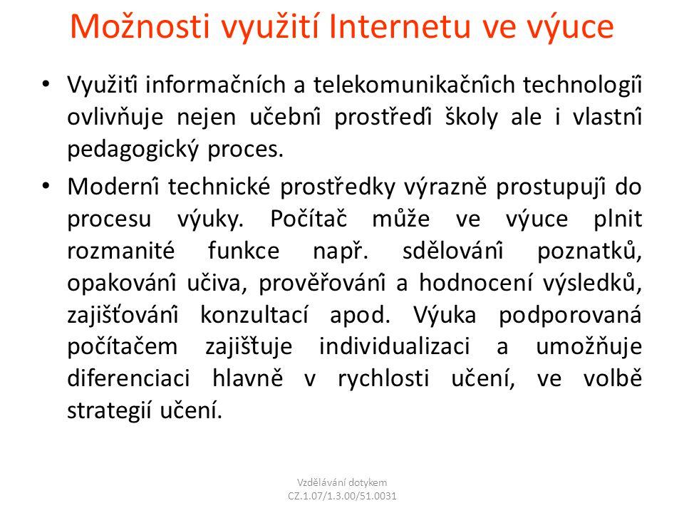 Možnosti využití Internetu ve výuce