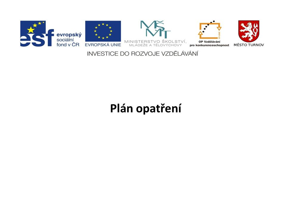 Plán opatření