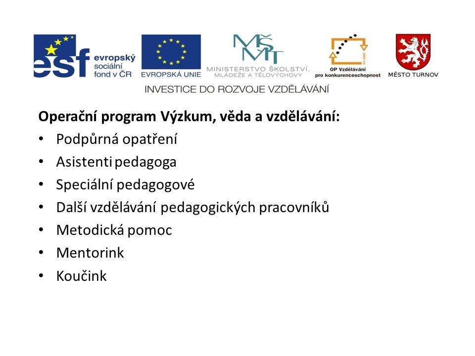 Operační program Výzkum, věda a vzdělávání: