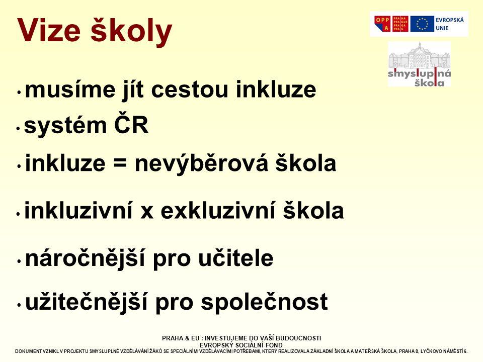 Vize školy musíme jít cestou inkluze systém ČR
