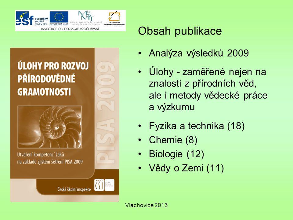 Obsah publikace Analýza výsledků 2009