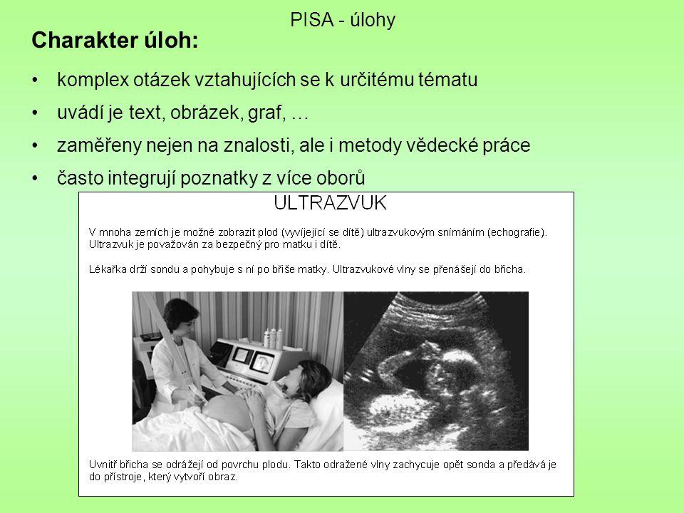 Charakter úloh: PISA - úlohy