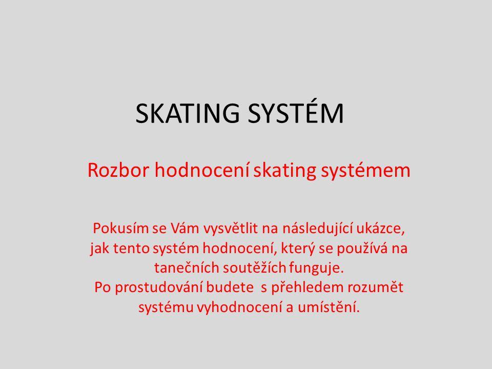 Rozbor hodnocení skating systémem