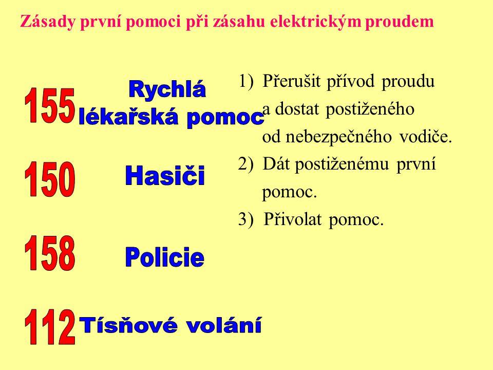Rychlá 155 lékařská pomoc 150 Hasiči 158 Policie 112 Tísňové volání
