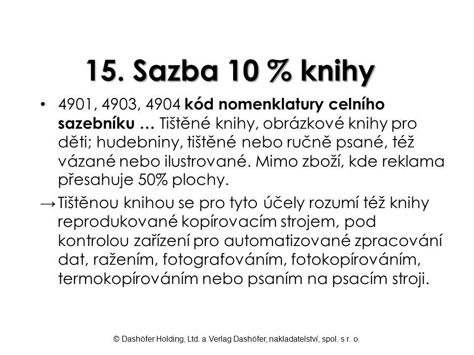 15. Sazba 10 % knihy