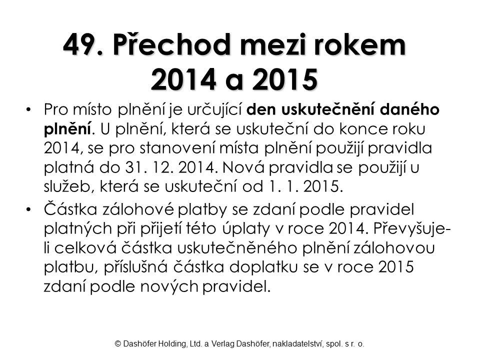 49. Přechod mezi rokem 2014 a 2015