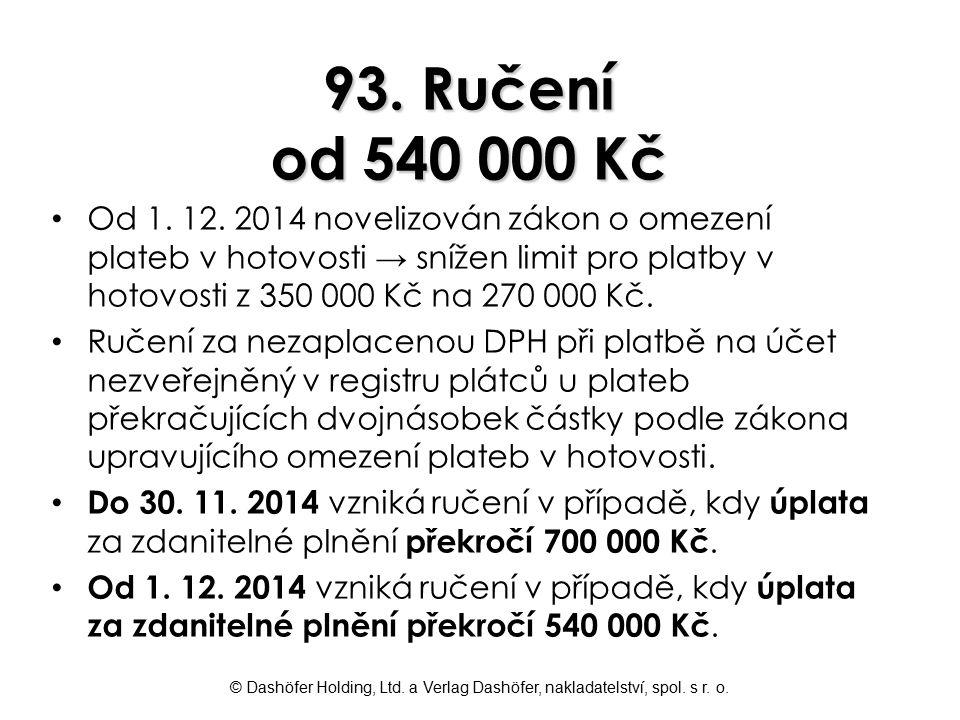 93. Ručení od 540 000 Kč