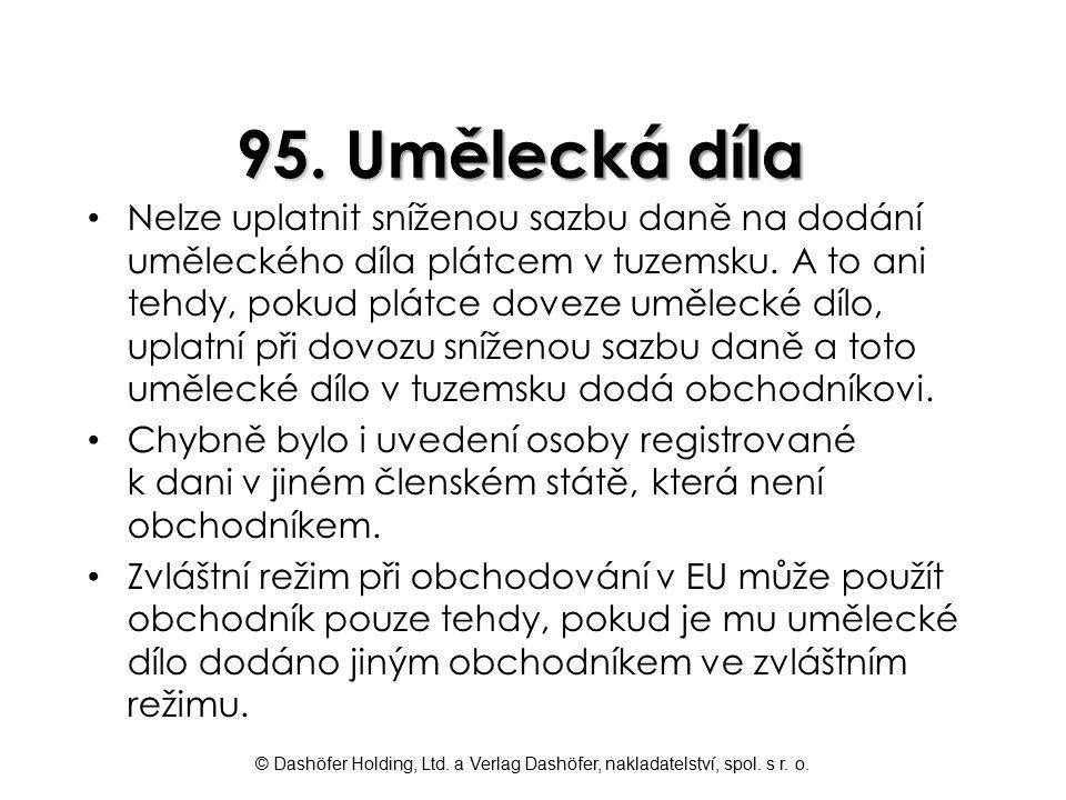 95. Umělecká díla