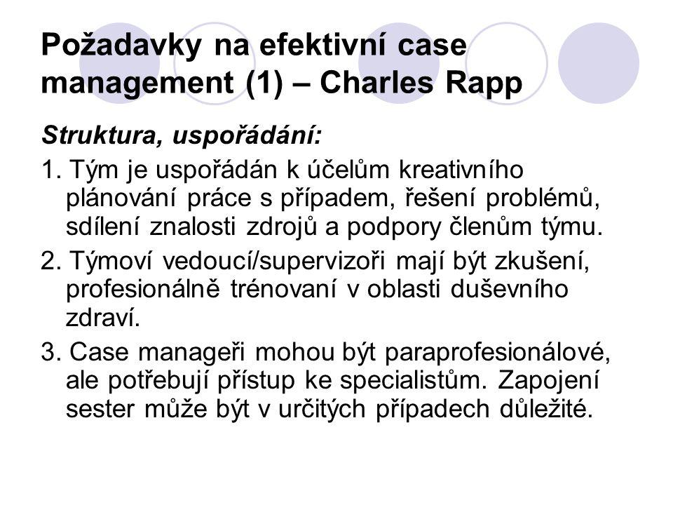 Požadavky na efektivní case management (1) – Charles Rapp
