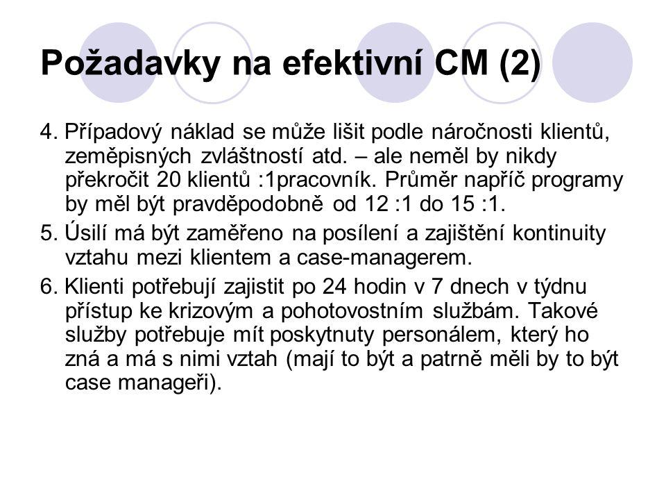 Požadavky na efektivní CM (2)