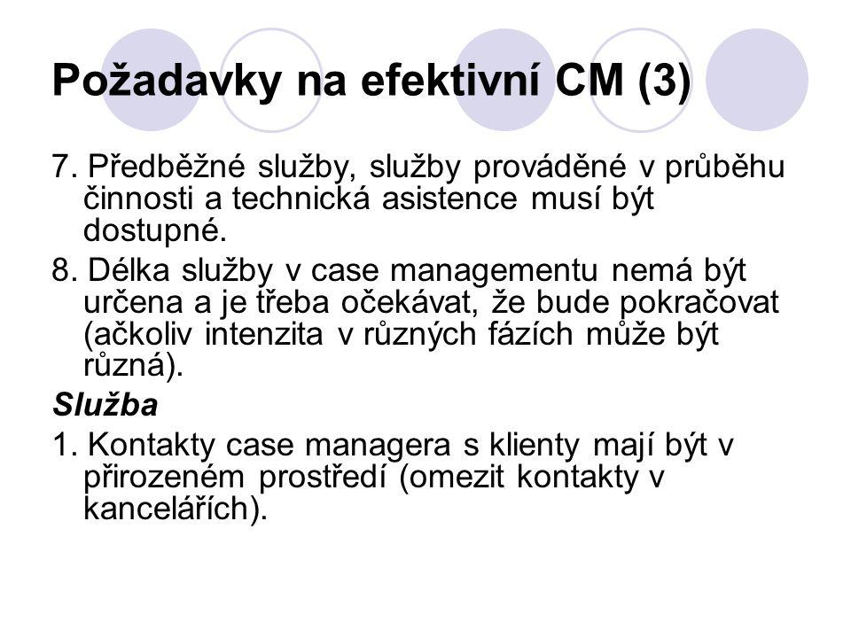 Požadavky na efektivní CM (3)