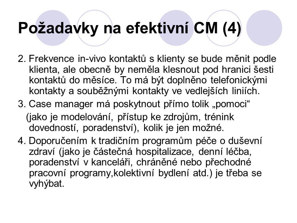 Požadavky na efektivní CM (4)