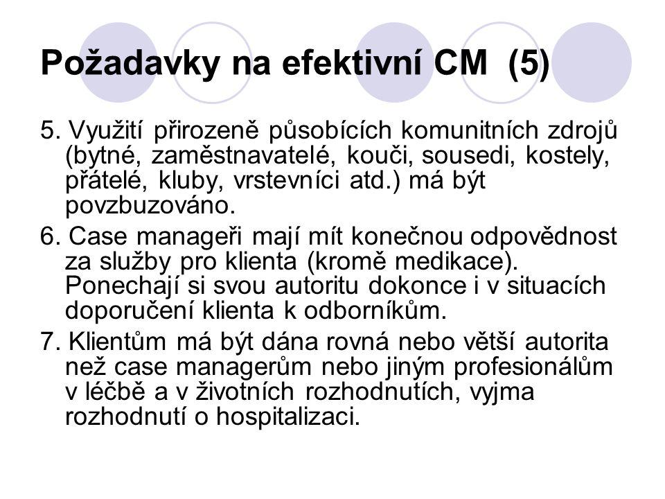 Požadavky na efektivní CM (5)