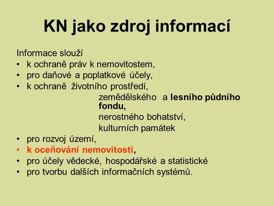 KN jako zdroj informací