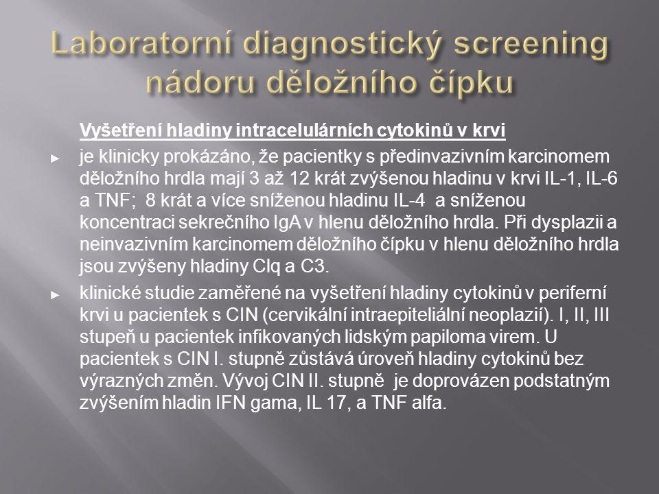 Laboratorní diagnostický screening nádoru děložního čípku