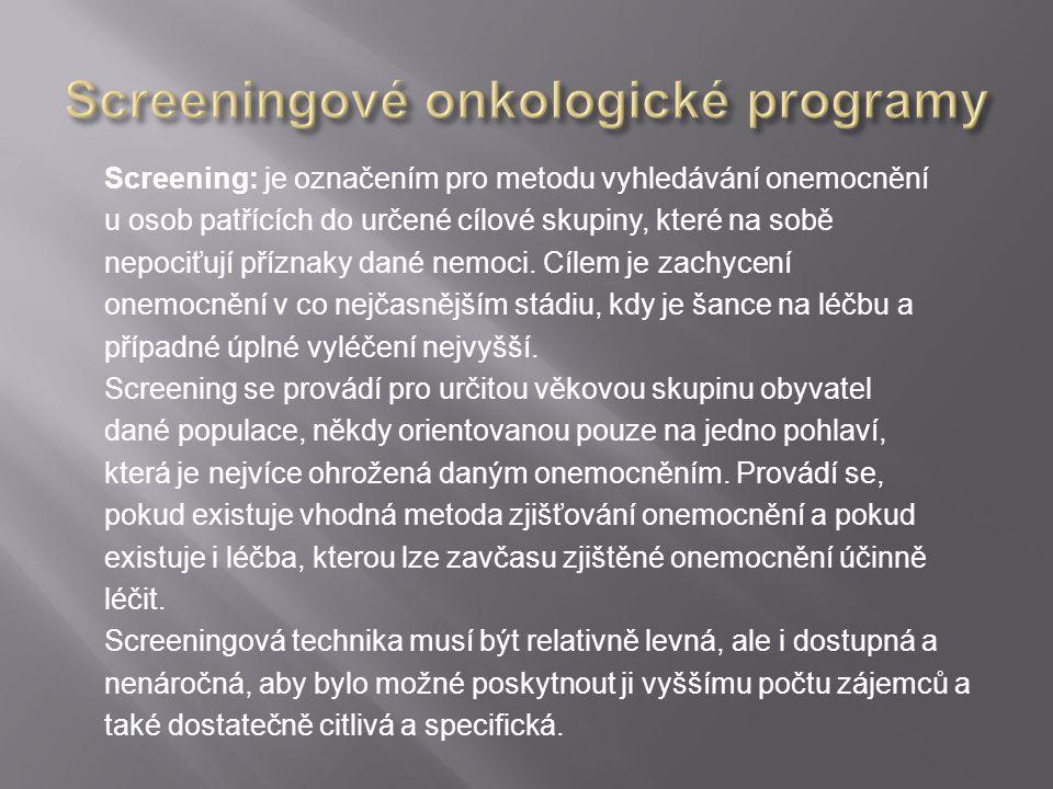 Screeningové onkologické programy