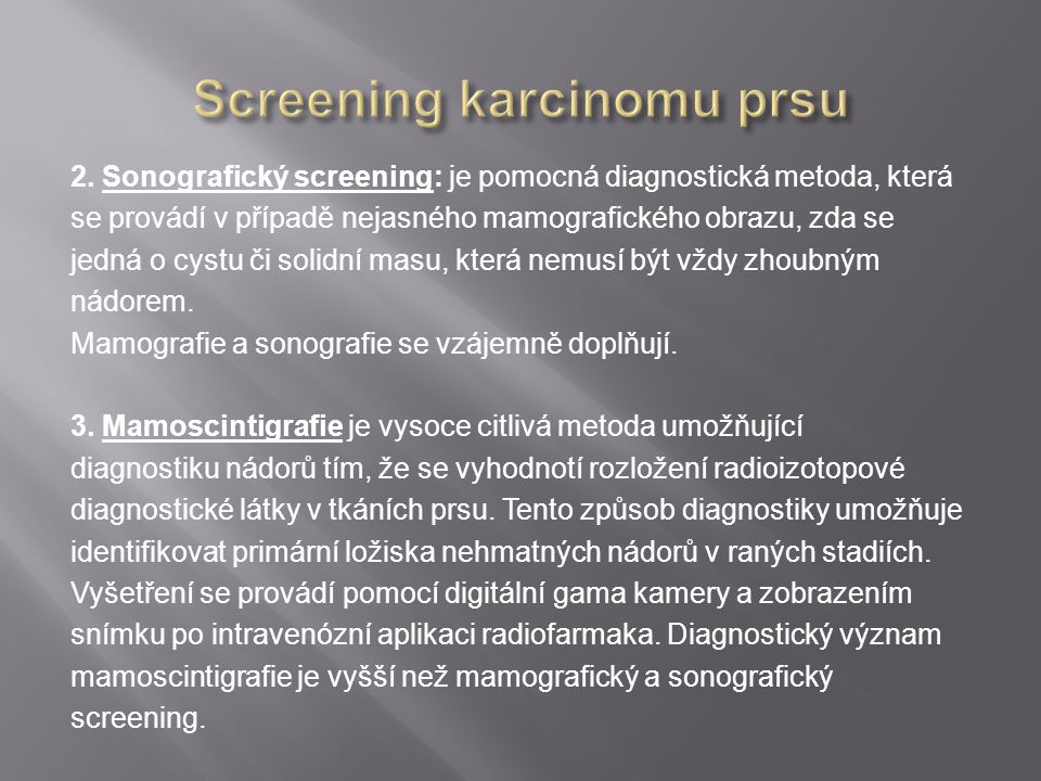Screening karcinomu prsu
