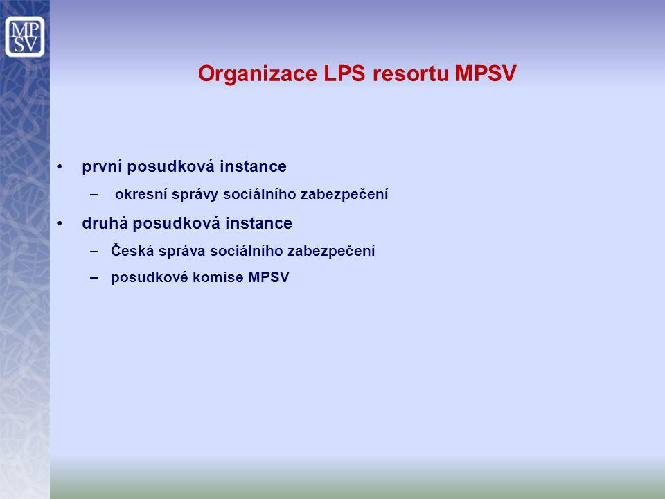 Organizace LPS resortu MPSV