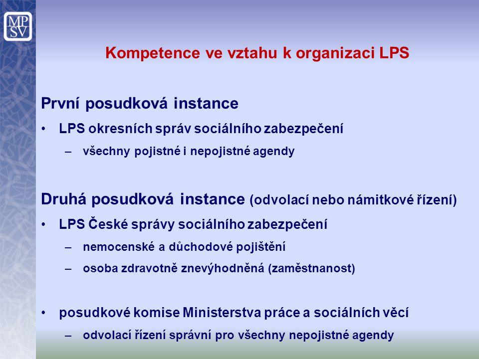 Kompetence ve vztahu k organizaci LPS