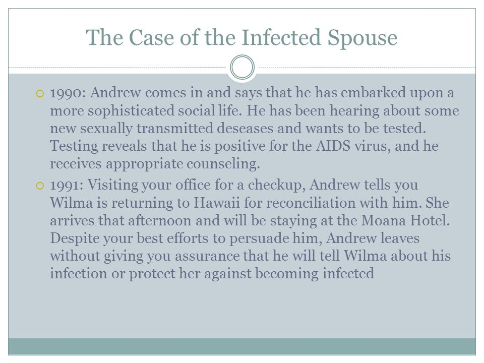 The Case of the Infected Spouse