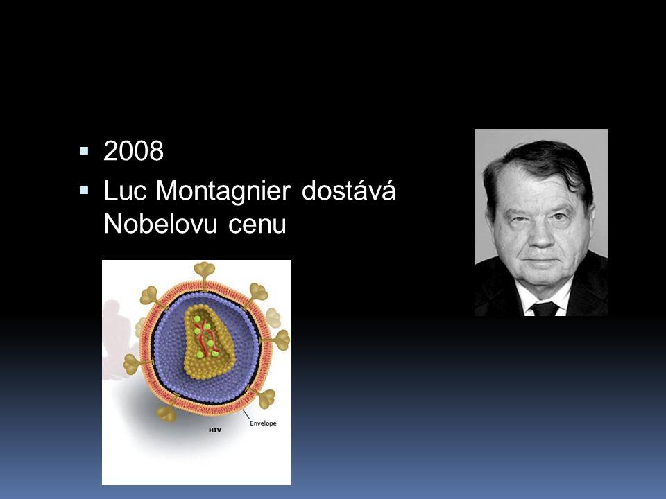 2008 Luc Montagnier dostává Nobelovu cenu