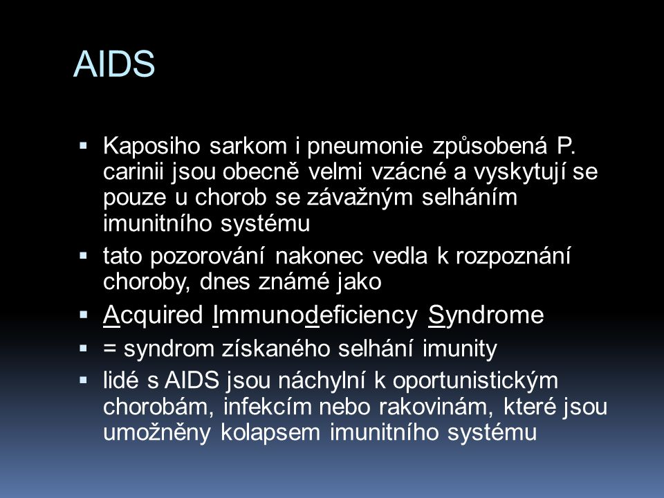 AIDS Acquired Immunodeficiency Syndrome