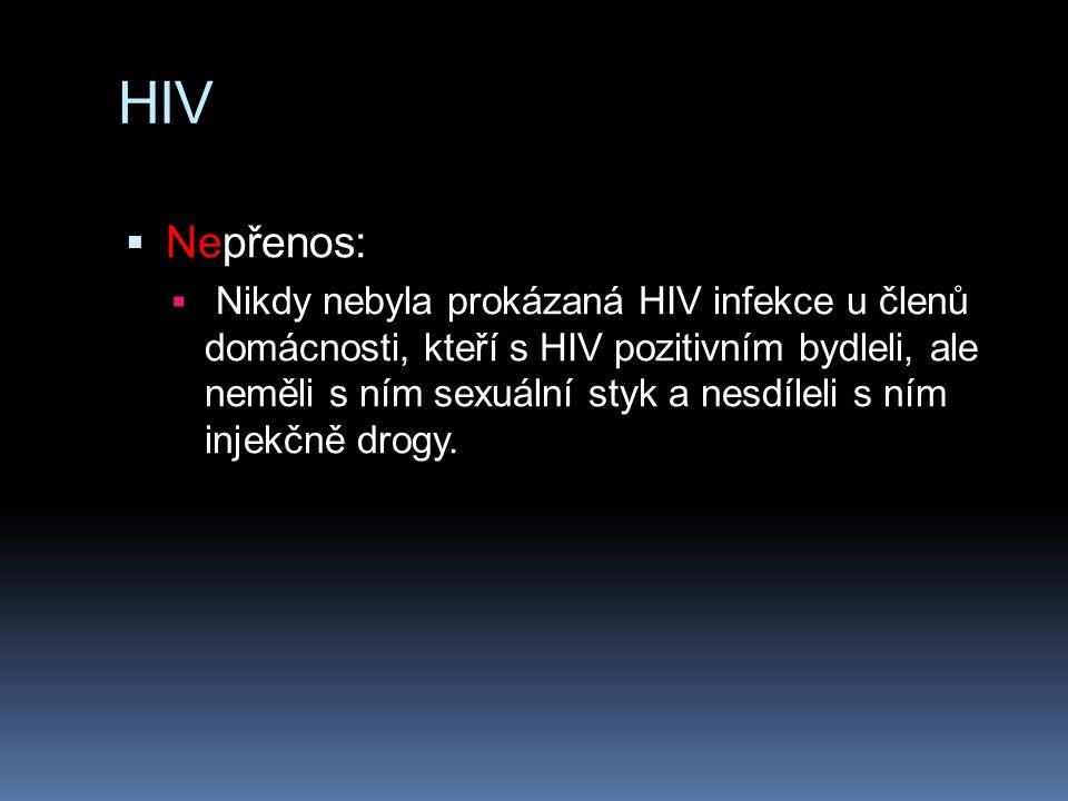 HIV Nepřenos: