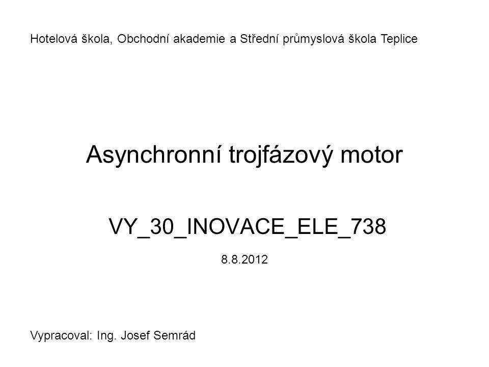 Asynchronní trojfázový motor